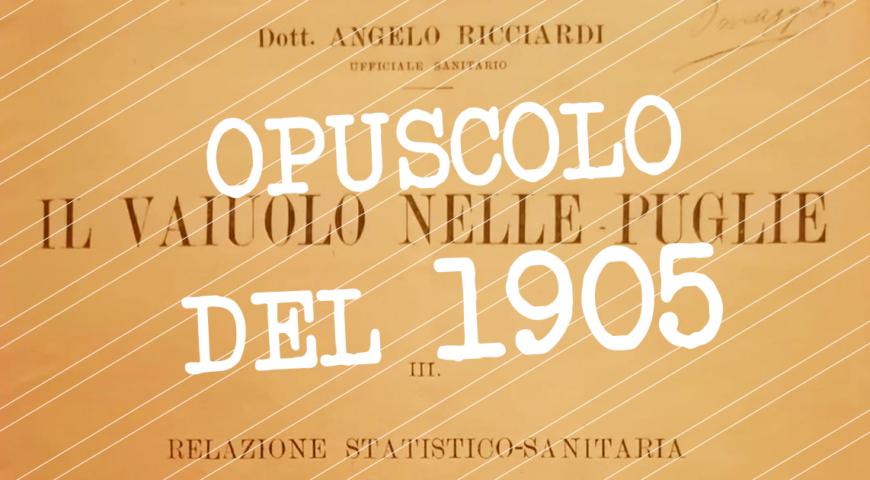 Opuscolo del 1905 Vaiolo nelle Puglie