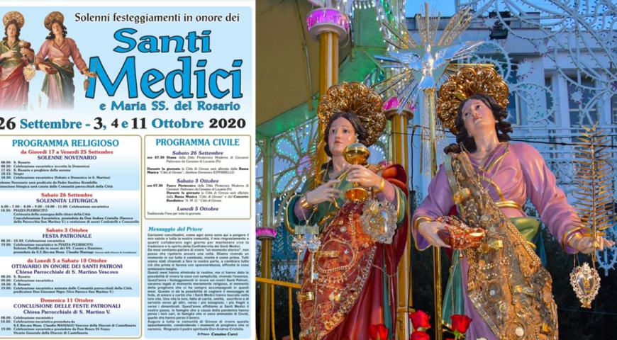 Copertina feste patronali santi medici 2020